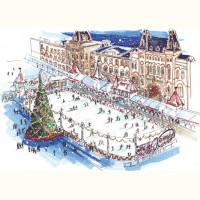 Каток на Красной Площади / Ice rink in Red Square