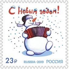 C новым годом! Снеговик