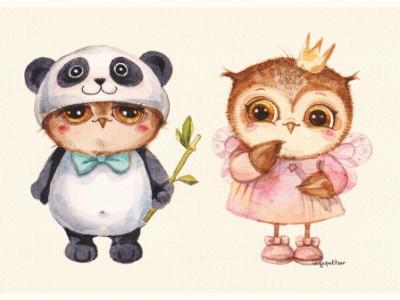 Панда и принцесса