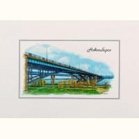 Новосибирск. Коммунальный мост через реку Обь