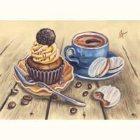 Пирожные и кофе