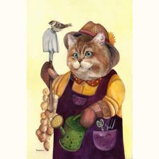 Кот садовник-огородник