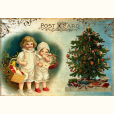 Christmas card Children