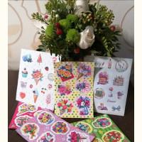 Новинки наклеек с цветами