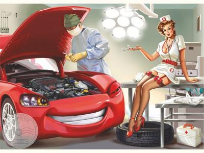 Pin-Up Медсестра для машины